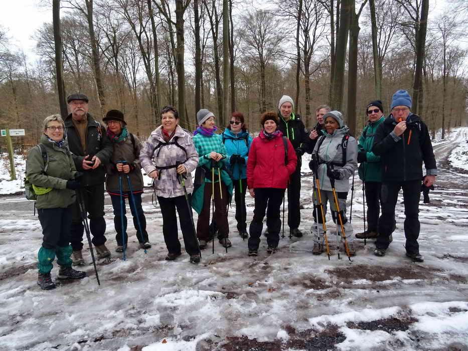 rando du 11 février 2018 forêt d'Halatte